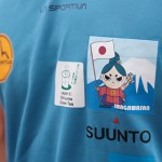 静岡のトレイルランナー望月将悟さんが今川さんを胸にイタリアの山を走ります