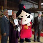 本日、臨済寺の涅槃会に合わせて行われた、静岡商工会議所から臨済寺への「今川霊廟」再建のための寄付金贈呈式に今川さんも出席しました。