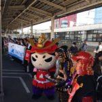 静岡DC「徳川×今川 歴史めぐり号」お出迎え。